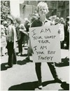 """""""I am your worst fear I am your best fantasy"""", New York, 1970"""