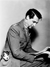 Cary Grant and a puppy
