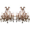 An Large-Scaled Pr of Italian Rococo Style Gilt-Tole Chandeliers