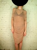Raquel Allegra Peach Mesh Dress