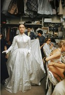 backstage at Balmain, Paris 1954