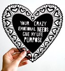 Cutting to the chase is this snarky laser-cut Valentine by artist Andrea Everma.