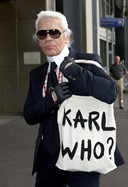 Karl Lagerfeld's Karl Who? canvas shopper