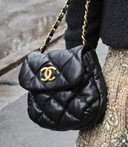Chanel bubble quilt mini flap bag