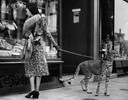 Phyllis Gordon and her pet Cheetah, 1939
