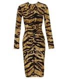 Dolce & Gabbana, Stretch Silk Dress with Tiger-Print