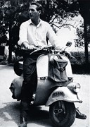 Paul Newman on a Vespa