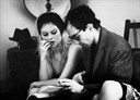 Brigitte Bardot & Jean-Luc Godard on the set of Le Mépris