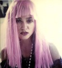 Madonna with pink wig
