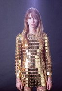 Françoise Hardy's gold dress from Paco Rabanne