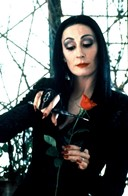 Anjelica Huston as 'Morticia Adams'