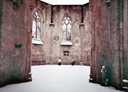 Roofless Chapel in the snow, Nunhead Cemetery by Cassie Clarke
