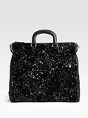 Sequinned Tote by Prada