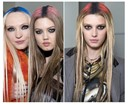 COLOUR-SPRAYED MIDDLE PARTINGS BY GUIDO PALAU AT JEAN PAUL GAULTIER