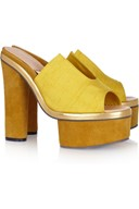 Acne yellow mules
