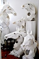 Horse masks for Hermes by Anna-Wili Highfield