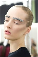 Embellished Brows at Chanel A/W12