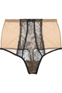 Wolford high-waisted lace briefs
