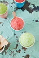 Watermelon and Honeydew Sorbets by Tartelett