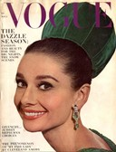 Audrey Hepburn in emerald green, Vogue, 1964
