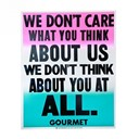 """""""THINK"""" Poster by Gourmet"""