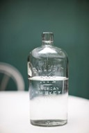Vintage whiskey bottle