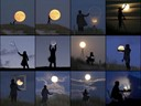 """Creative Moon"" photographs by WWU Planetarium"