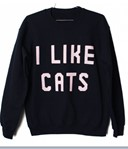 I LIKE CATS jumper