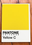 Pantone 4207. Yellow C. Greeting Card at 1973