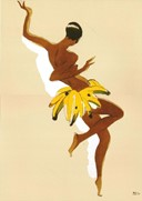 Josephine Baker: Banana Skirt by Paul Colin