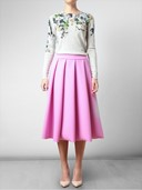 J.W. ANDERSON Pleated Pink Neoprene Skirt
