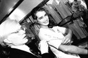 Andy Warhol and Brooke Shields in the Fiorucci store, NY