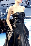Dior A/W13 leather dress
