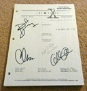 Signed X-Files scripts!