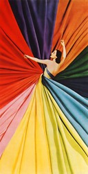 A colour wheel dress