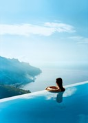 infinity pool at Hotel Caruso, Italy