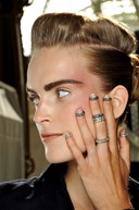 Fingertip rings at Chanel Couture A/W13