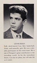 Lou Reed's yearbook photo