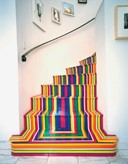 Zobop (Stairs) by Jim Lambie 2003
