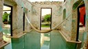Hacienda ruins repurposed as swimming pools, Mexico