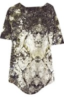 Helmut Lang Gravel print backless jersey top