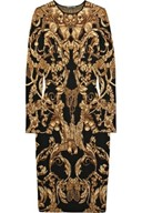 Alexander McQueen  Intarsia wool and silk-blend dress