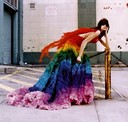 Alexander McQueen Rainbow shipwreck dress from Spring 2003