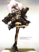 Fringed dress by Gareth Pugh A/W06, photography by Nick Knight