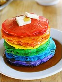 Rainbow Pancakes by I Am Mommy