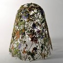 The Fragility of time. Dry flower sculpture by Ignacio Canales Aracil