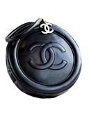 Black quilted circle bag Vintage Chanel