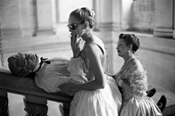 John Malkovich and Uma Thurman during the filming of Dangerous Liaisons