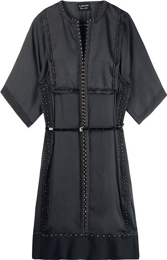LANVIN STUD SILK DRESS