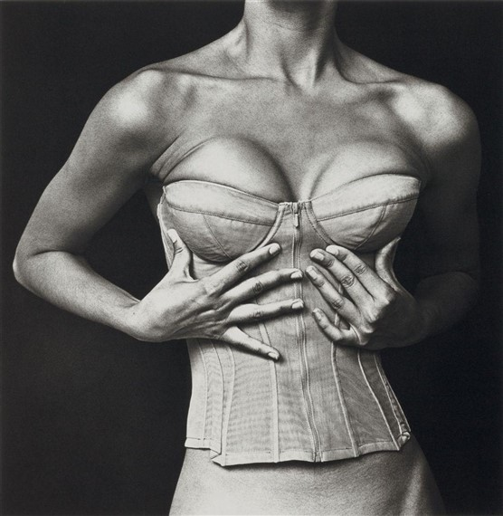 Corset, Karl Lagerfeld for Chanel, New York, July 28, 1994by Irving Penn